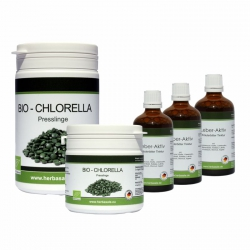 Leber-Aktiv Intensivkur  3x 50ml plus 300g Chlorella...