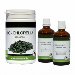 Nieren & Blasen Intensivkur 2 x 50ml plus 200g Chlorella